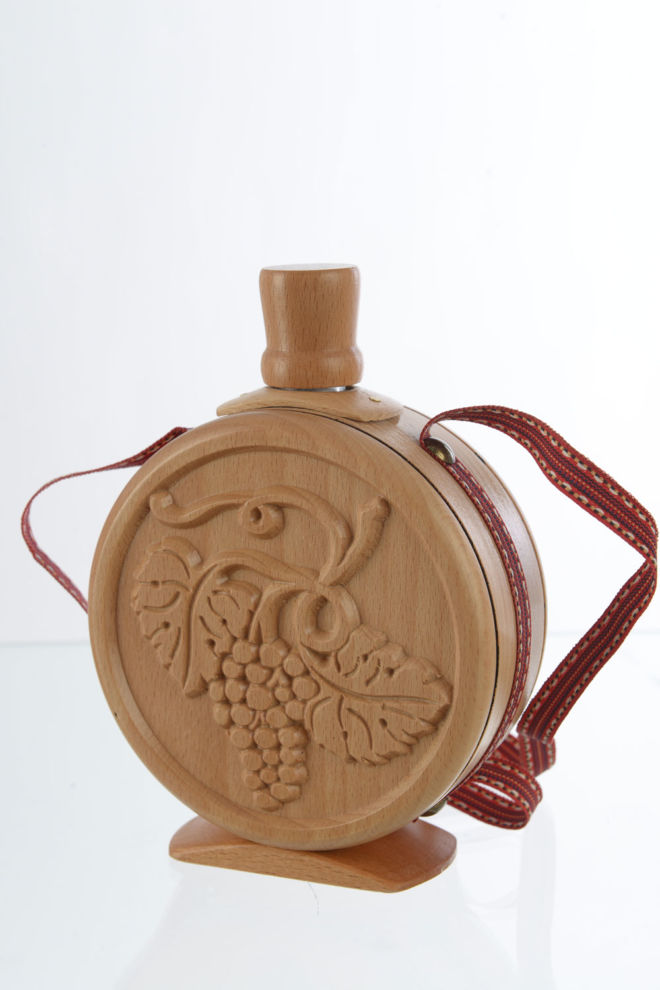 WOODEN BRANDY BOTTLE 0.1 L CNC WOODCUT