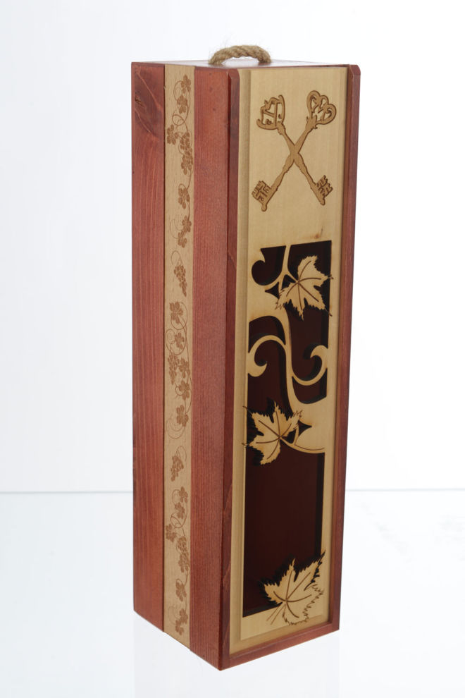 Schiebedeckelbox mit graviertem Band