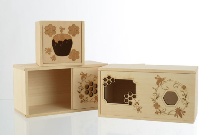 WOODEN HONEY BOXES