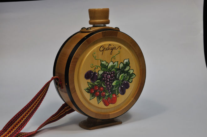 BRANDY BOTTLE 0.7 L HAND PAINTED