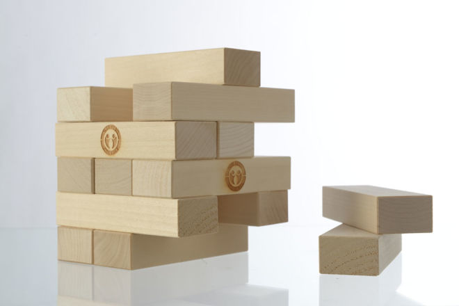 BOARD GAME JENGA WOODEN TOWER 54