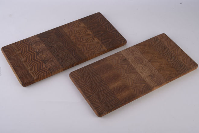 drvena daska mozaik za sečenje
