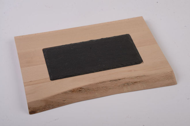 WOODEN BOARD WITH STONE