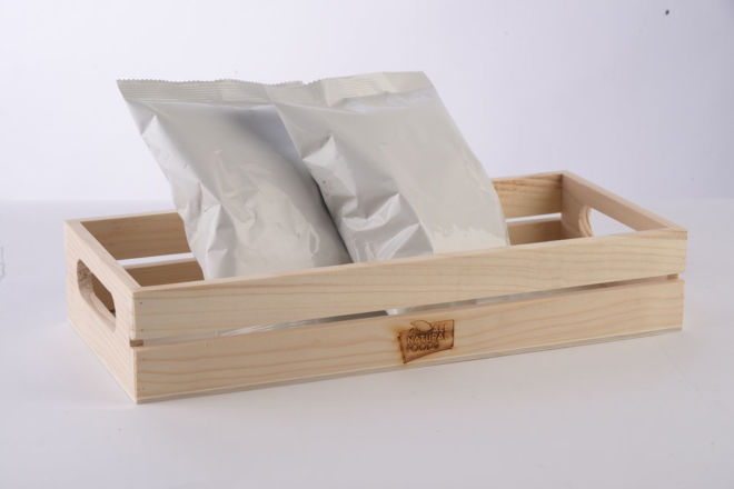 WOODEN BOX FOR APPLE CHIPS