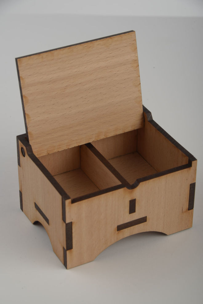 WOODEN BOX FOR INCENSE AND BRIQUETTE