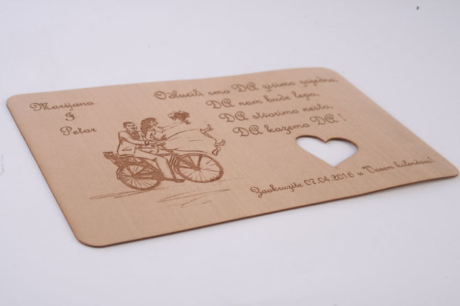 drvena razglednica