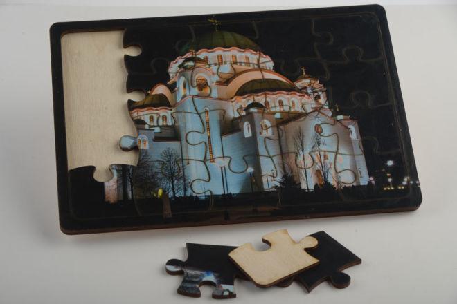 hölzernes Puzzle
