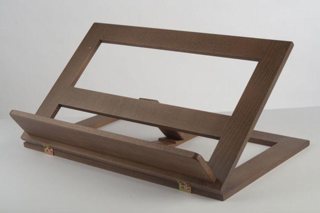 drveni kosi stalak za knjige