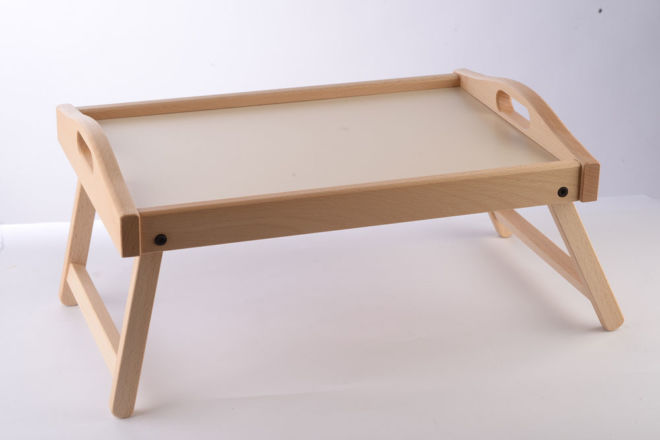 WOODEN TRAY FOR BED