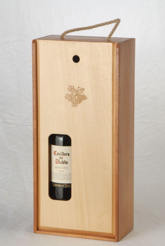Box fuer 1 Flasche und 2 Gläser