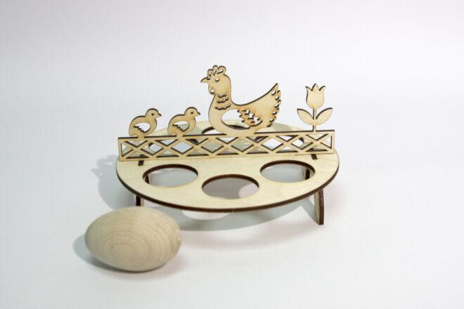 drveni stalak za jaja