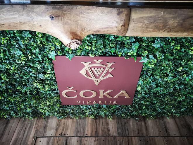 drvena reklama vinarija čoka